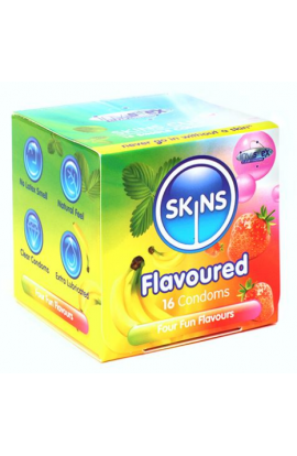 Skins Condoms Flavours Cube 16 Pack