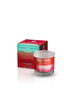 DONA Kissable Massage Candle Strawberry Souffle