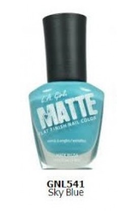 Matte Finish Nail Color - Sky Blue