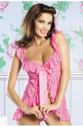 Julia babydoll & thong Pink