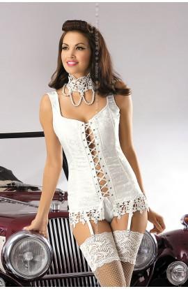 Bride corset, thong, necklace