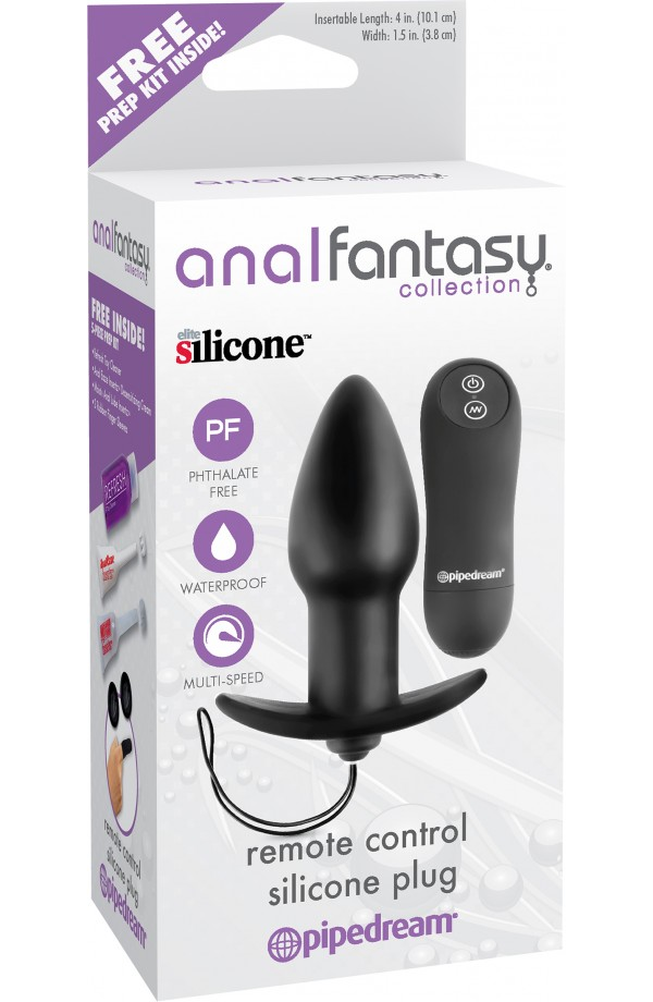 Anal Fantasy Collection - Remote Control Silicone Plug