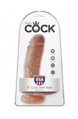 """King Cock 8"""" Cock with Balls"""