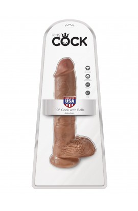 """King Cock 10"""" Cock with Balls"""