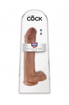"""King Cock 13"""" Cock with Balls"""