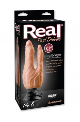 "Real Feel Deluxe No. 8 7.5"" Double Penetrator"
