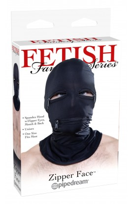Zipper Face Hood