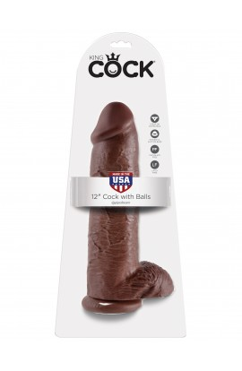 "King Cock 12"" Cock with Balls"