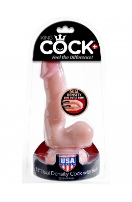"King Cock Plus 6.5"" Dual Density Cock w/ Balls"