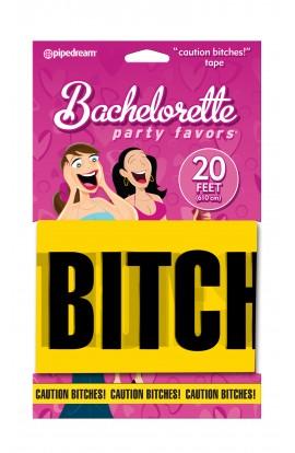 """Bachelorette Party Favors """"Caution Bitches!"""" Tape"""