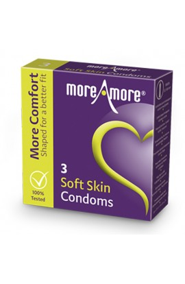 MoreAmore - Condom Soft Skin 3 pcs