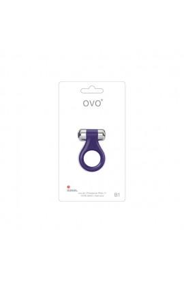 Ovo - B1 Vibrating Ring Lilac Chrome
