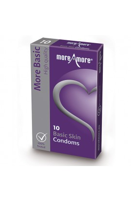 MoreAmore - Condom Basic Skin 10 pcs